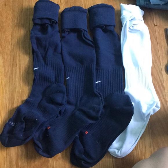 Nike Accessories - (3) Nike soccer socks + 1 no name freebie